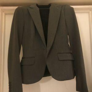 Express gray suit jacket